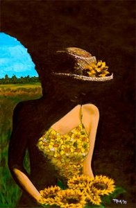 Sunflower Girl Poster