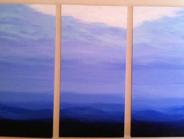 Blue Mood Triptych